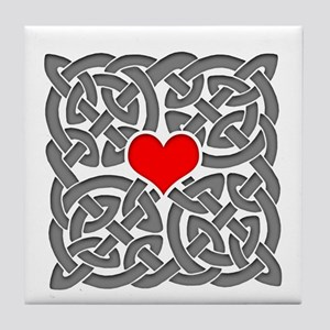 Celtic Knot Heart Tile Coaster