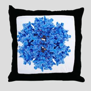 Adenovirus particle - Throw Pillow