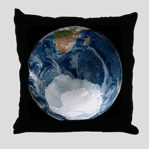 Antarctic ice sheet maximum, 2005 - Throw Pillow