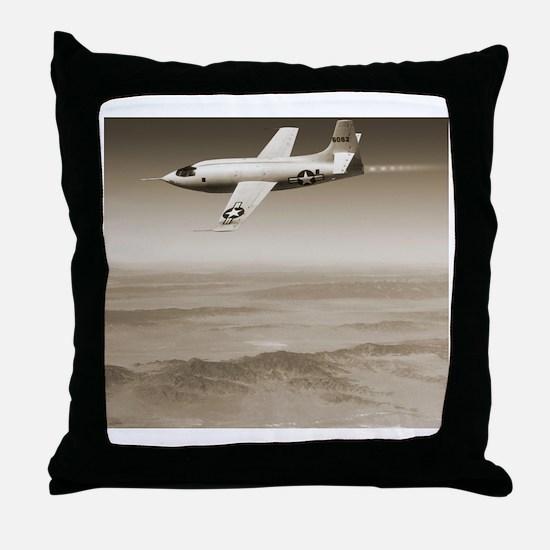 Bell X-1 supersonic aircraft - Throw Pillow