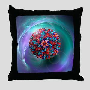 Bluetongue virus, artwork - Throw Pillow