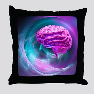 Brain research, conceptual artwork - Throw Pillow