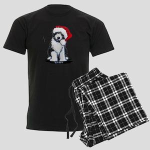 Bearded Collie Santa Men's Dark Pajamas