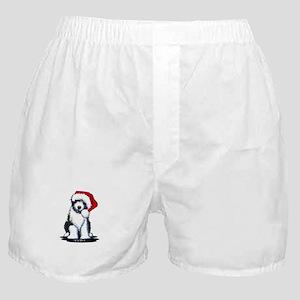 Bearded Collie Santa Boxer Shorts