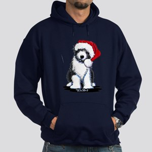 Bearded Collie Santa Hoodie (dark)