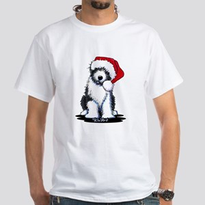 Bearded Collie Santa White T-Shirt