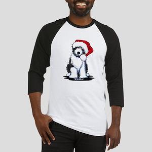 Bearded Collie Santa Baseball Jersey