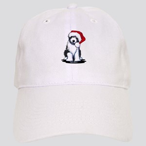 Bearded Collie Santa Cap