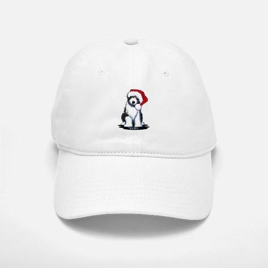 Bearded Collie Santa Baseball Baseball Cap