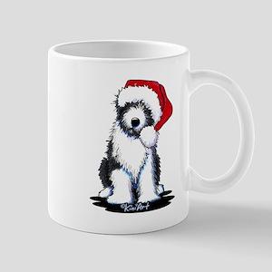 Bearded Collie Santa Mug