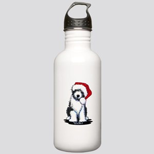 Bearded Collie Santa Stainless Water Bottle 1.0L