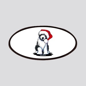 Bearded Collie Santa Patches