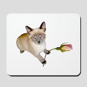 Kitten Rosebud Mousepad