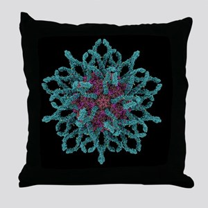 Coxsackie B3 virus particle - Throw Pillow