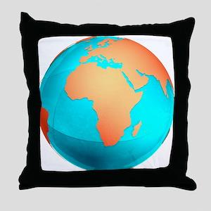 Earth, computer artwork - Throw Pillow