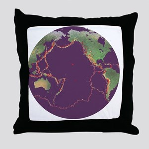 Pacific Ring of Fire - Throw Pillow
