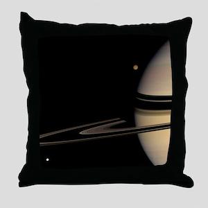 Saturn, Cassini image - Throw Pillow