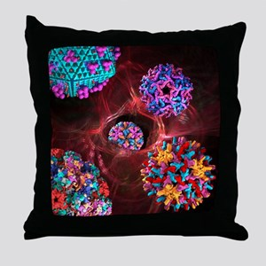 Viral infection, conceptual artwork - Throw Pillow