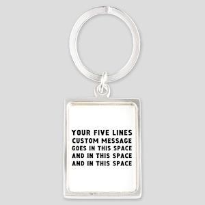 Five Lines Text Customized Portrait Keychain