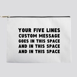 Five Lines Text Customized Makeup Pouch