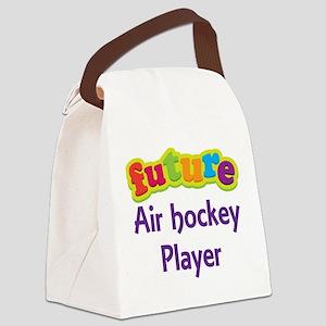 Future Air Hockey Player Canvas Lunch Bag