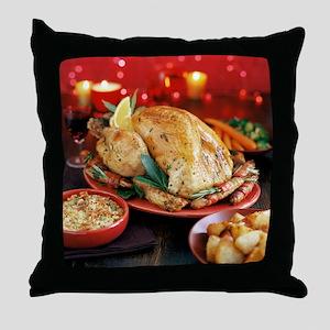 Christmas dinner - Throw Pillow