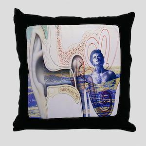 Conceptual artwork of an ear with tinnitus - Throw