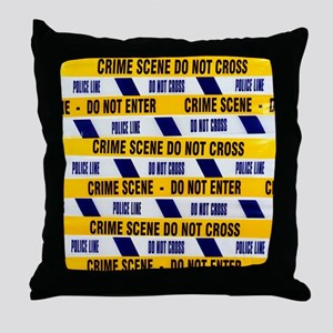 Crime scene tape - Throw Pillow