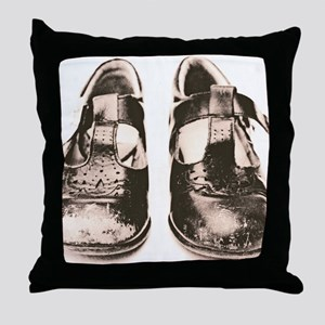 Child's worn shoes - Throw Pillow