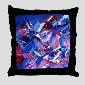 Drug abuse - Throw Pillow