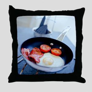 Fried breakfast - Throw Pillow