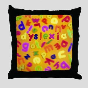 Dyslexia - Throw Pillow