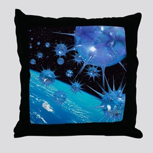 Global pandemic - Throw Pillow