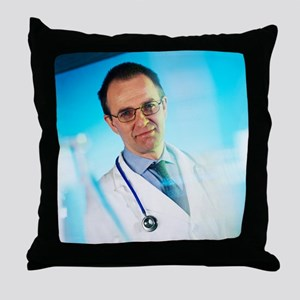 Hospital doctor - Throw Pillow
