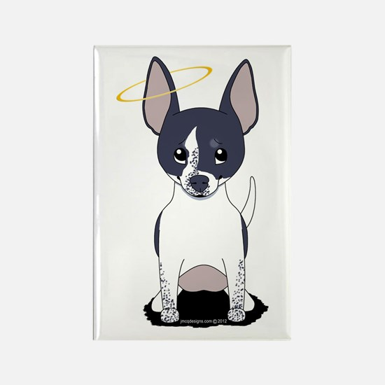 Black White Chihuahua Angel Rectangle Magnet