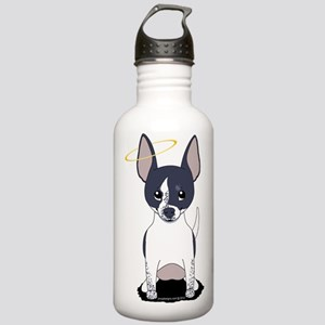 Black White Chihuahua Angel Stainless Water Bottle