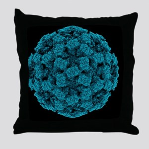 Norwalk virus particle - Throw Pillow