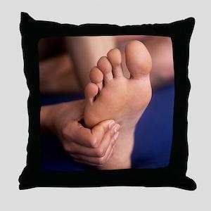 Reflexology massage - Throw Pillow