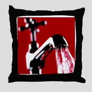 Running tap - Throw Pillow