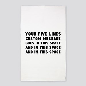 Five Lines Text Customized Area Rug