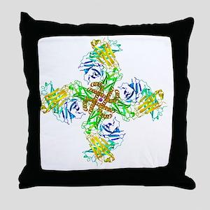 Potassium channel molecular model - Throw Pillow