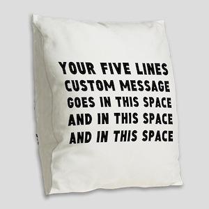 Five Lines Text Customized Burlap Throw Pillow