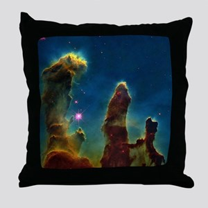 Gas pillars in the Eagle Nebula - Throw Pillow