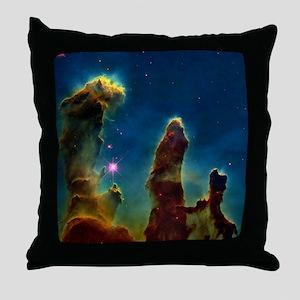 Gas pillars in the Eagle Nebula - Throw Pillow