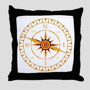 Compass rose - Throw Pillow