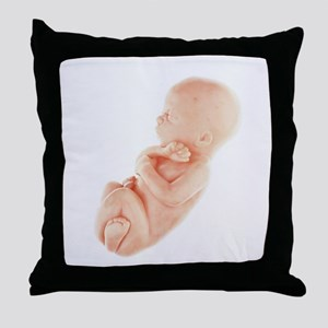 Model of a foetus - Throw Pillow