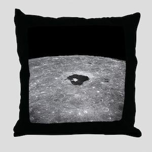 Lunar far side crater Tsiolkovsky - Throw Pillow