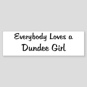 Dundee Girl Bumper Sticker