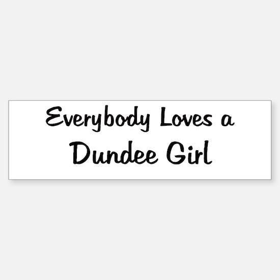 Dundee Girl Bumper Bumper Bumper Sticker
