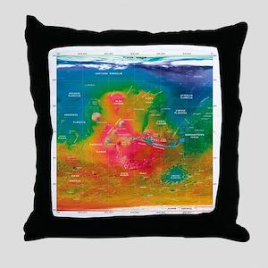 Mars topographical map, satellite image - Throw Pi